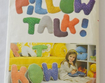 Vintage Pillow Talk Stuffed Alphabet Letters Sewing Pattern Butterick 6040