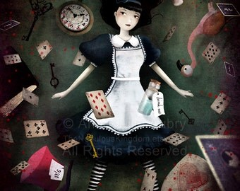 Down the Rabbit Hole (Alice in Wonderland)  3/100 - Deluxe Edition Print