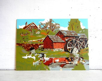 Paint By Number Painting PBN   Maple Tree & Mill   Farm Country Life   Testors