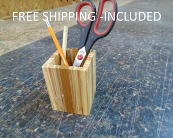 Pencil Cup - Organizer - Pencil Holder - Desktop Organizer - Reclaimed Wood