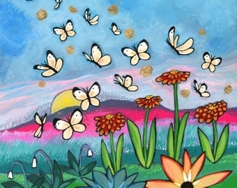 Greeting Card : Butterflies Rising