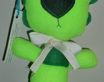 Handmade green lion plush: Broccoleo
