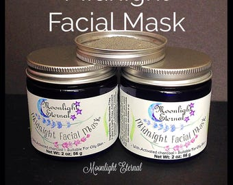 Activated Charcoal Mask - Midnight Facial Mask - Charcoal And Clay Mask - Clay Mask - Natural Skin Care - All Natural