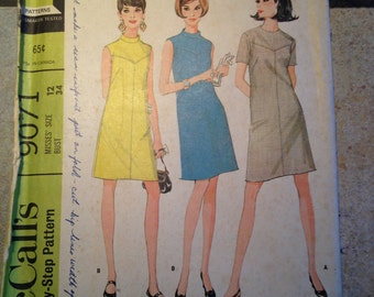 McCall's 9071 Size 12 Misses' Dress Pattern