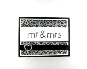Mr & Mrs cards, Wedding cards, wedding day cards, Congratulations, bride and groom, elegant wedding cards, hearts