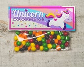 INSTANT DOWNLOAD Unicorn Droppings Funny Skittles or rainbow candy Treat Topper Candy Bag Label printable unicorn birthday party favors