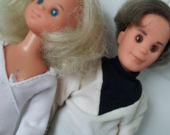 Vintage 1970s Mattel Sunshine Family Dolls Steve & Stephanie