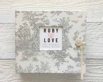 Vintage Gray Jamestown | BABY BOOK