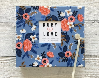 BABY BOOK | Rifle Paper Co. Birch Floral Periwinkle Album