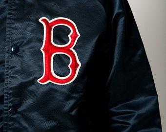 The Vintage Chalk Line USA-Made Navy Blue Boston Red Sox Unisex Baseball Jacket
