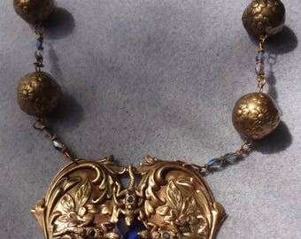Tanzanite and Crystal necklace—Artisan made OOAK