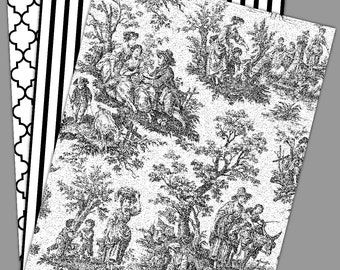 Toile Edible Images Wafer Paper or Sugar Sheet for Cookies, Cupcakes, Cakes 3 Sheets
