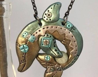 Steam Punk Dolphin Necklace