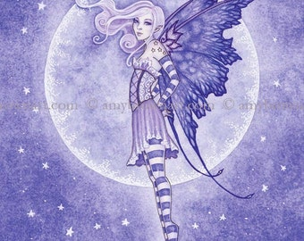 5x7 Moon and Stars fairy PRINT by Amy Brown