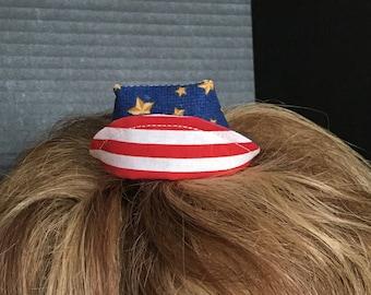 Mini Nurse Hat - Patriotic Stars and Stripes
