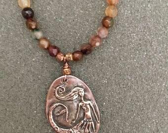 Sweet Mermaid Gemstone Necklace