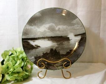 Niagara Falls Souvenir Plate, Royal Doulton TC1068, 10.5 Inches, Photo Plate