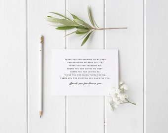 Greeting Card, Black and White Card, Typography Card, Love Card, Thank You Card, You Give me Hope, There for Me, Opened Up My Eyes