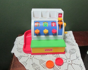 Fisher Price Cash Register with 2 Coins 1994