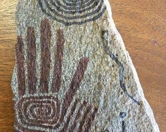 Original Dine' Navajo Painting on Stone