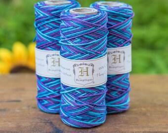 Hemp 1mm Cord, 205 Feet, Multi Colored Hemp Cord, Purple Haze,  Bracelet Cord, Hemp Twine  -T40