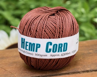 Hemp Cord, Brown, 1mm, 430 Feet, Packaging Twine,   Bead Cord,   -T71