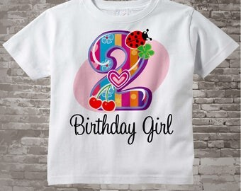Second Birthday Girl Shirt, Fancy Number 2nd Birthday Onesie, Girls Birthday Onesie, Two Year Old Tee or Onesie 09042014c