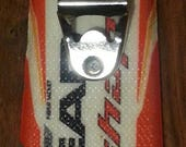 Wall Bottle Opener made from recycled ski tail makes is a great apres ski gift for any man cave.