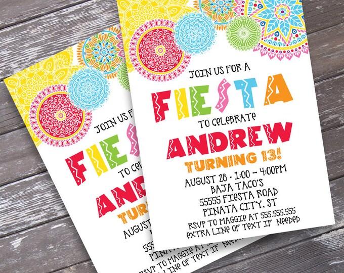 Fiesta Party Invitation - Cino De Mayo, Fiesta BirthdayParty   Editable Text - Instant Download PDF Printable