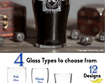 10 Personalized Groomsmen Glasses, Will you be my Groomsman Proposal Gift Laser Etched Beer Glasses Whiskey Glasses Pint Glasses Groomsmen