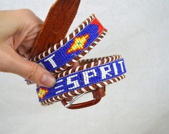 Funky Esprit Seed Bead Native American Southwest Belt