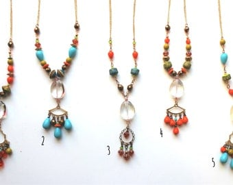Long Boho Style Necklaces - Colorful Beaded Necklaces - Christmas Gift