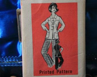 1960s mail order pattern 9431 pants suit plus size  18 1/2
