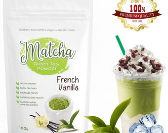 French Vanilla Matcha Green Tea Powder