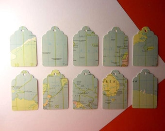 Map Tags - Set of 10