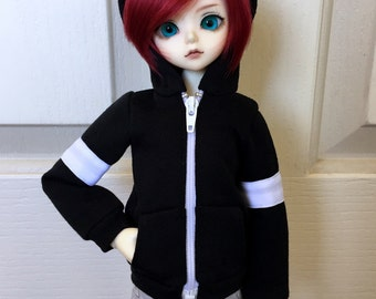 BJD black and white hoodie for MSD