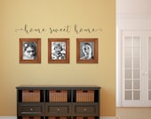 Home Sweet Home Decal - Wall Quote Script - Home Decor - Wall Words - Home Sticker