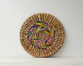 Vintage Woven Basket Mat