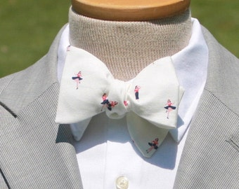 Sailor Girl Bow Tie mens bowtie mens bow tie Pin Up Girl Bowtie Nautical bow tie ivory cream red black bowtie Freestyle Bowtie