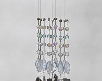 Upcycled, recycled vintage silverware wind chime