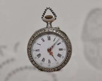 Antique Solid Silver Pocket Watch 1800's Made in France