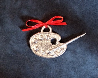 Artist's Palette Pewter Ornament