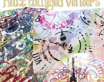 Polymer Clay Faux Collage Veneer Tutorial - Learn How to Make a Faux Collage on Polymer Clay