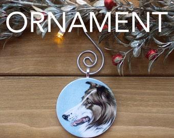 Collie Ornament, Christmas Tree Decoration, Tree Ornament, Vintage Ornament, Dog Gift, Christmas Gift, Stocking Stuffer, Free Shipping