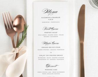 Timeless Elegance Dinner Menus - Deposit