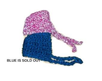 Easter Bonnet CLEARANCE Newborn Baby Bonnet  Pink Baby Bonnet Super Soft Baby Bonnet