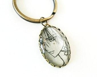 Vampire Knight - Zero Kiryu - Glass Jewelry - Handmade Recycled - Manga / Anime / Geek Pendant Key Chain
