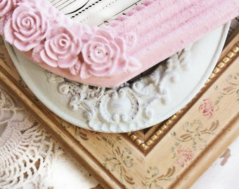 Shabby Picture Frames. Painted SHabby Frames. Easter Pastels. Pink Green Yellow. Shabby Chic Nursery. TableTop Frames. set of 3