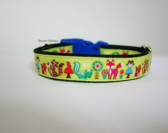 Woodland Animals Dog Collar or Matching Lead Seat Belt