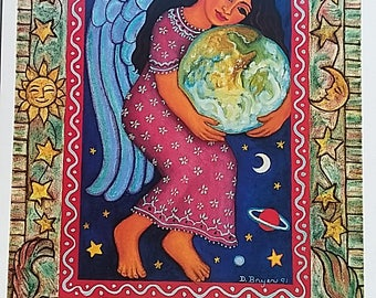 """Diana Bryer, """"Gaia's Angel"""" 12"""" x 18"""" poster, 80 lb paper, artist will personalize, sign each"""